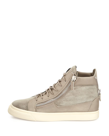 Men's Suede Zip High-Top Sneaker