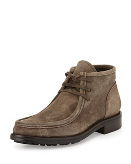 Crawford Lugged Suede Boot, Beige