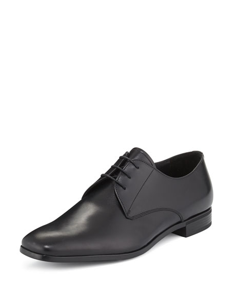 Image 1 of 1: Leather Lace-Up Oxford, Black