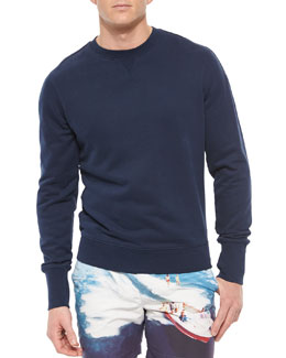 Morley Crewneck Knit Sweatshirt, Navy