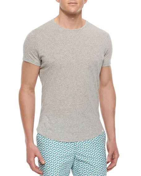 Tommy Crewneck Short-Sleeve T-Shirt, Gray