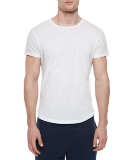 Tommy Solid Crewneck Tee, White