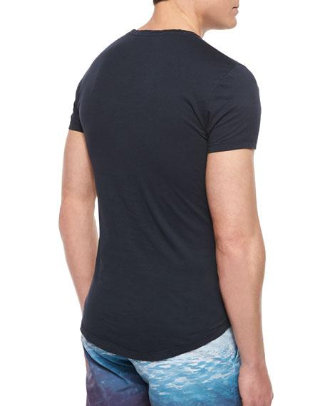 Tommy Crewneck Short-Sleeve T-Shirt, Black