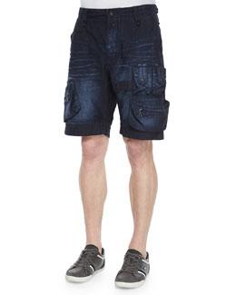 Reagan Utility Cargo Shorts, Indigo