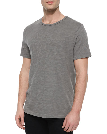Standard Issue Basic Crewneck Short-Sleeve Tee, Charcoal