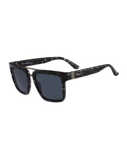 Gancino Wayfarer Plastic Sunglasses, Gray