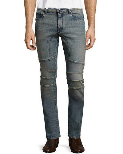 Elmbridge Sand-Blasted Slim Denim Jeans, Blue