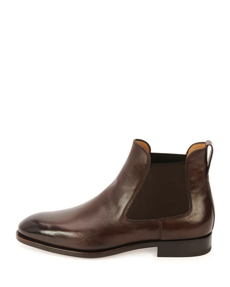 Leather Chelsea Boot, Chocolate