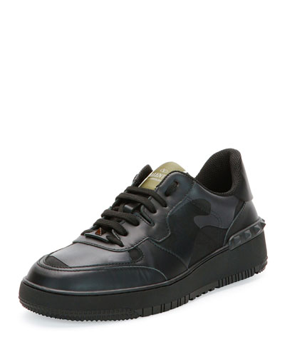 Rock Be Camo-Print Sneaker, Black