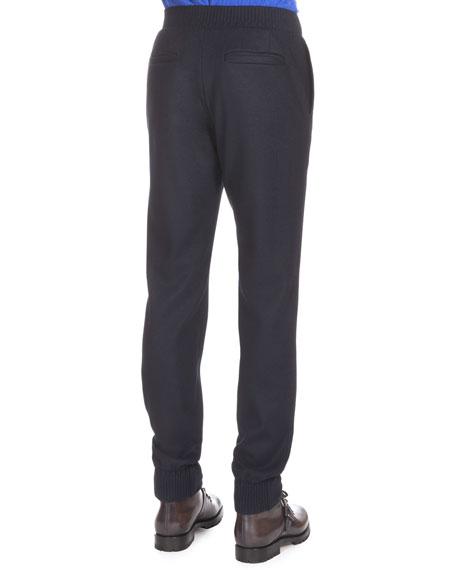 Wool-Blend Jogger Pants, Notte