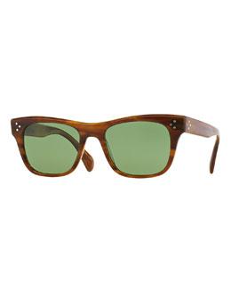 Jack Huston 52 Polarized Sunglasses, Raintree Light Brown