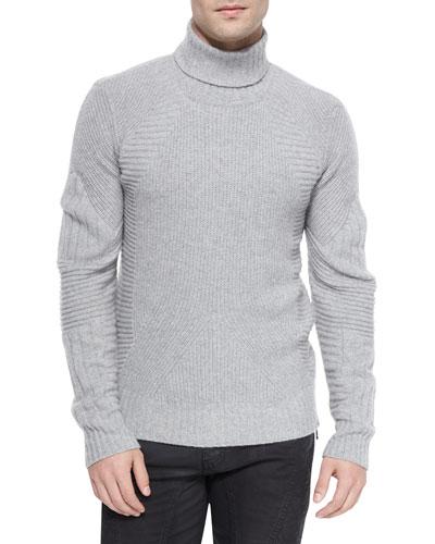 Littlehurst Textured Knit Sweater, Light Gray
