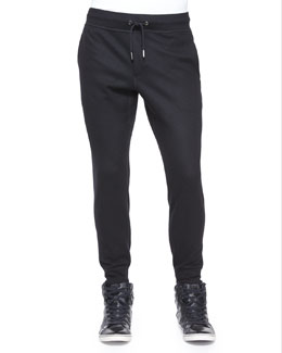 Slim-Fit Stretch Jogger Pants, Black