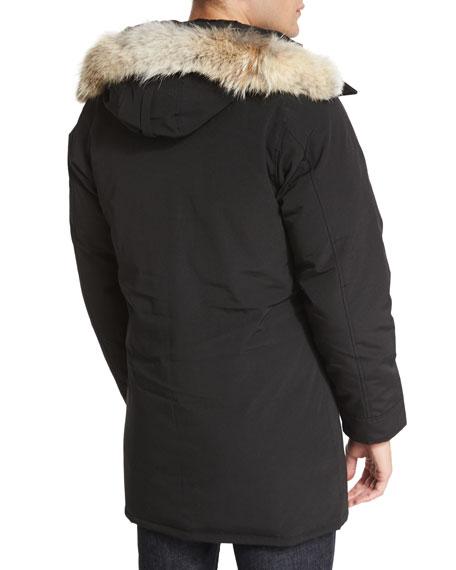 Langford Parka with Fur-Trimmed Hood, Black