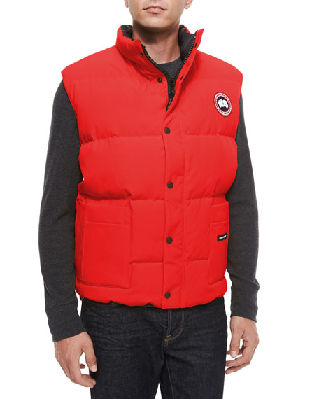 Freestyle Down Puffer Vest, Red