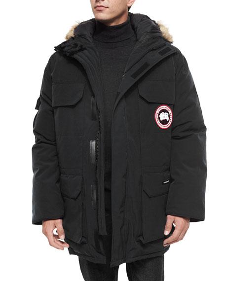 canada goose expedition parka w fur trimmed hood black rh bergdorfgoodman com