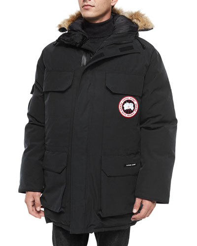 Expedition Parka w/Fur Trimmed Hood, Black