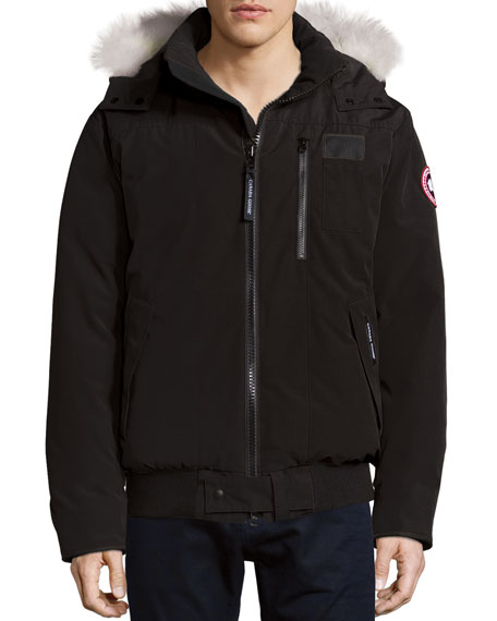 Canada Goose' Boys' Rundle Bomber with Fur Hood - Sizes Xs-xl - Red