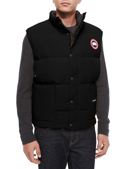 Freestyle Down Puffer Vest, Black