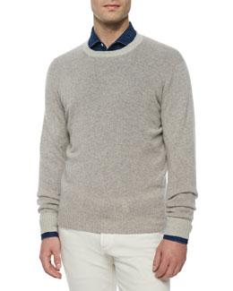 Baby Cashmere Crewneck Sweater, Gray