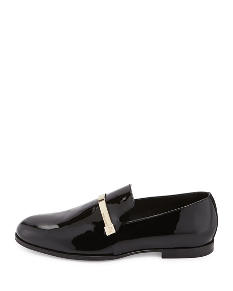 Sinclair Men's Patent Leather Loafer, Black