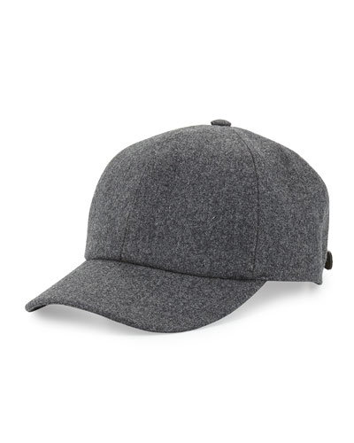 Wool Baseball Cap, Gray