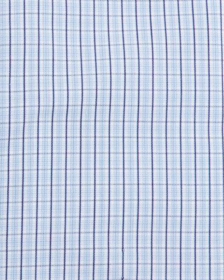 Plaid-Check Dress Shirt, Navy