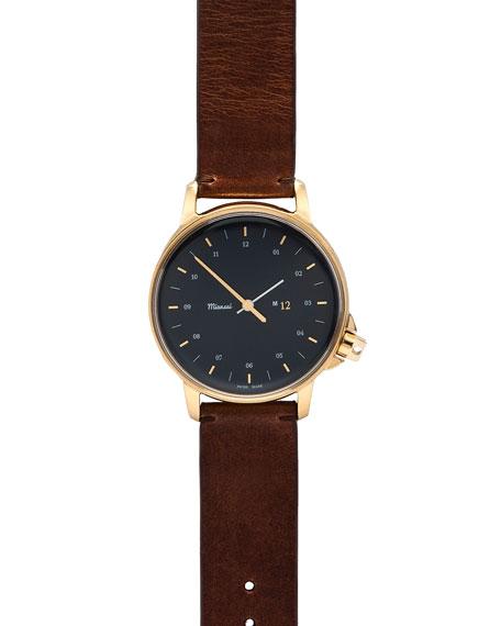 M12 Navy Gold Watch