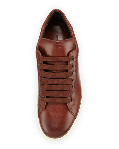 Russel Leather Low-Top Sneaker, Brown