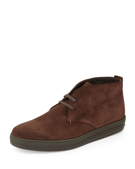 8ab8a40207ab4 TOM FORD Clarence Suede Chukka Boot, Dark Brown