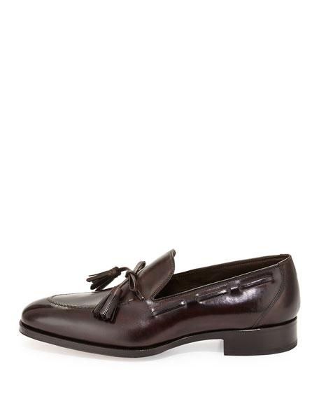 Austin Tassel-Tie Loafer, Brown