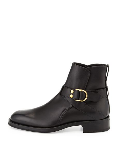 Guilford Leather Chelsea Buckle Boot, Black