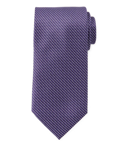 Micro-Tick Woven Neat Tie, Purple