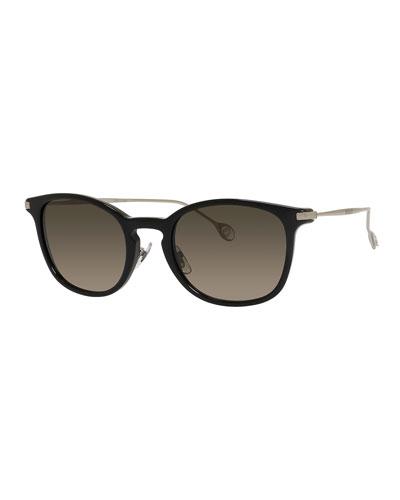 Polarized Round Acetate Sunglasses