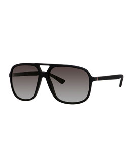 Injected Shiny Aviator Sunglasses