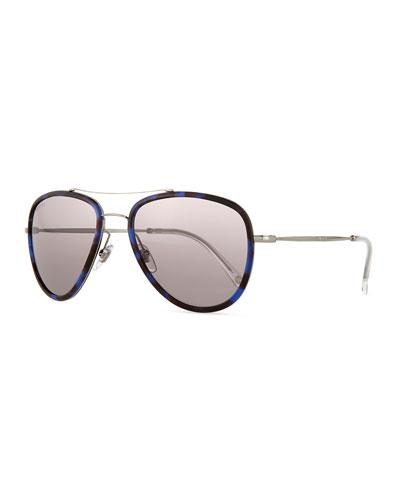 Havana Aviator Sunglasses