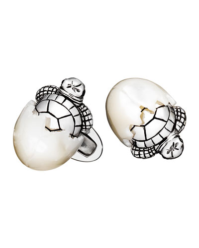 Hatching Baby Turtle Cuff Links