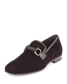 Party Velvet Formal Loafer, Bordeaux