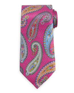 Quindici Placed Paisley Tie, Green