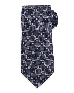 Octagon Box Tie, Navy