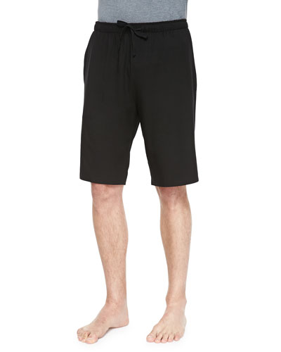 Basel Jersey Lounge Shorts, Black