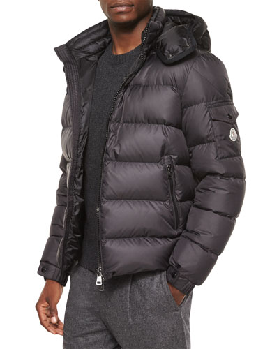 Himalaya Hooded Down Jacket, Black