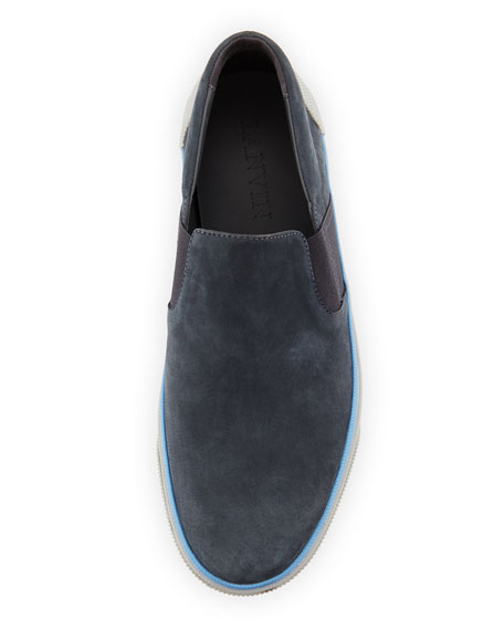 Men's Suede Skate Sneaker, Dark Gray
