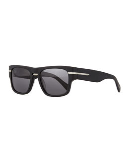 Public School 55 Acetate Sunglasses, Black