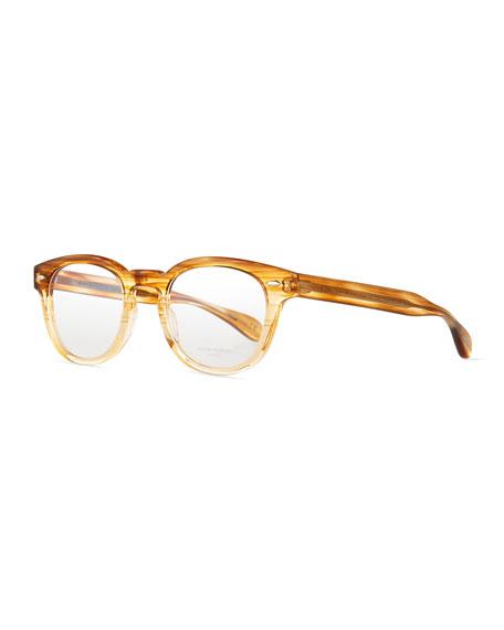 Sheldrake Streaked Fashion Glasses, Oak, Men's