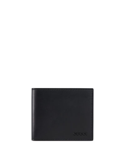 Rubber Leather Wallet, Black