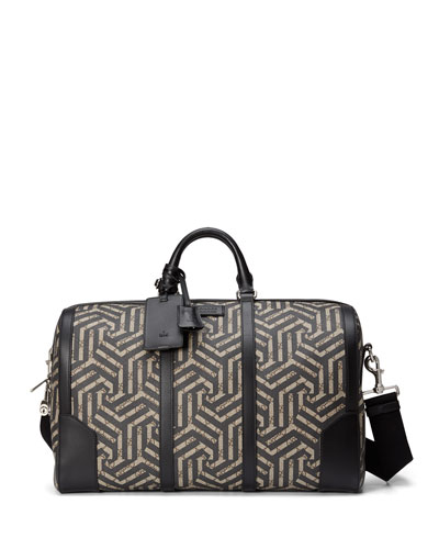 GG Caleido Canvas Duffel Bag, Black/Beige