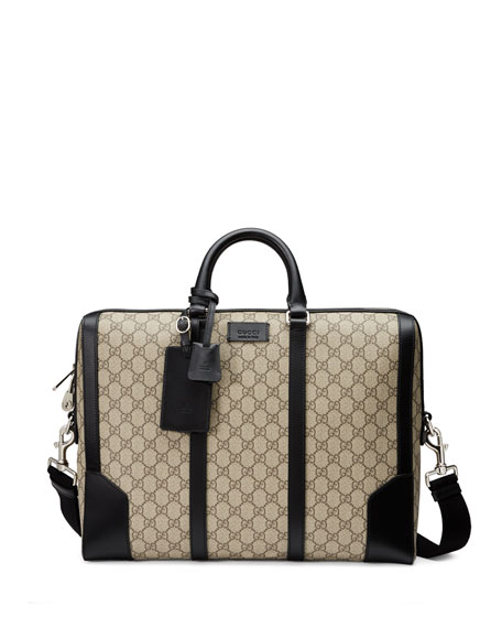 Eden GG Supreme Canvas Briefcase, Beige