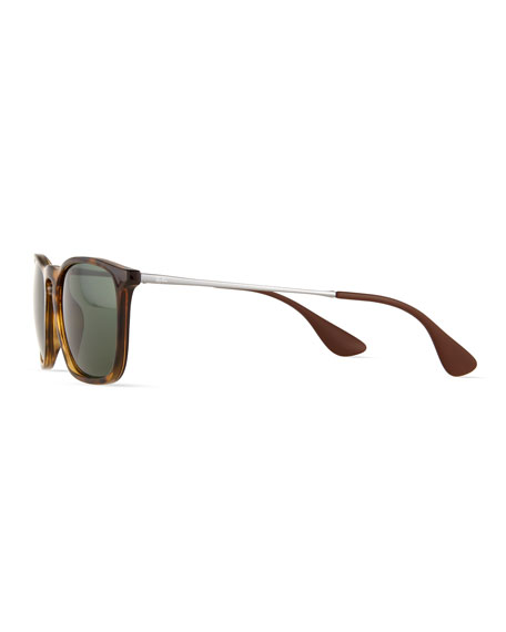 Wayfarer Plastic Sunglasses, Brown