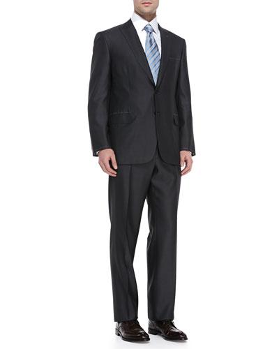 Tic Pattern Suit, Charcoal